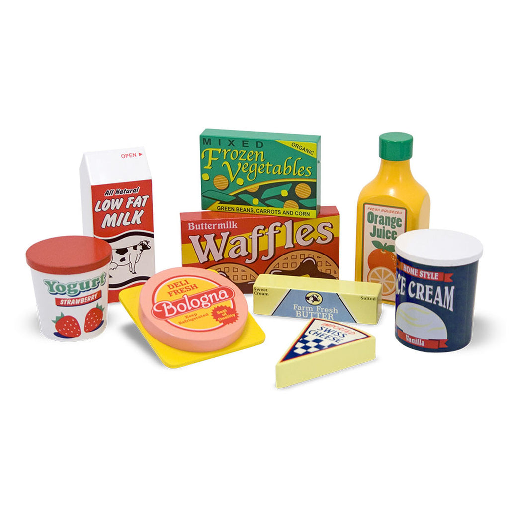 Melissa & Doug Fridge Food Set, Wooden Play Food
