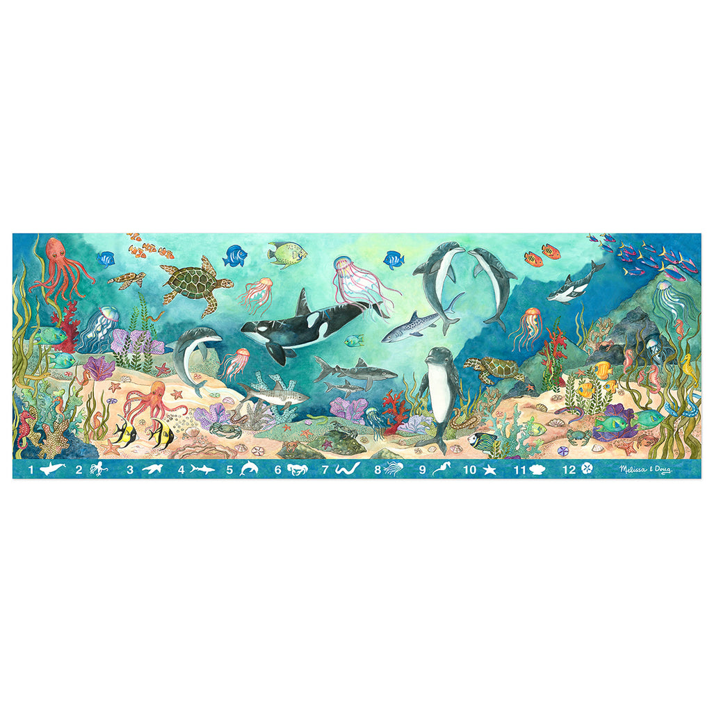 Melissa & Doug Search & Find Beneath The Waves Floor Puzzle, 48 Pieces