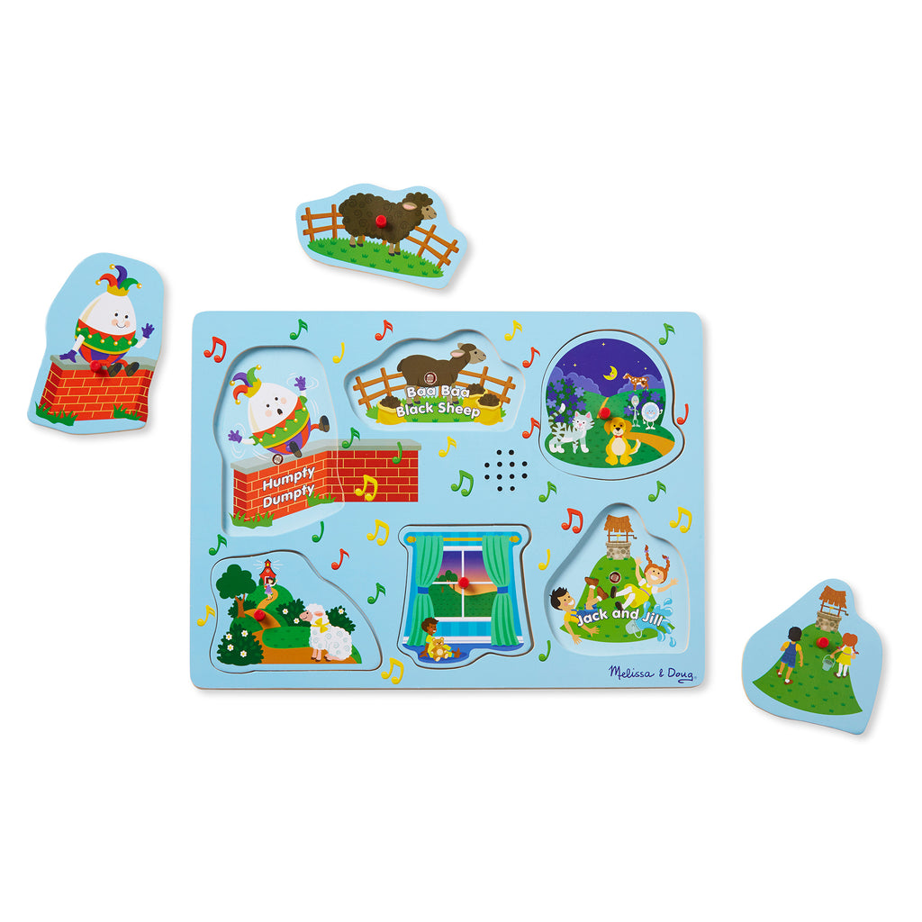 Melissa & Doug Sing-Along Nursery Rhymes Sound Puzzle - Light Blue