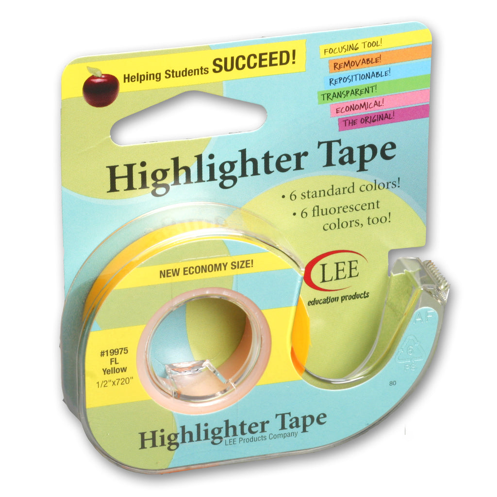 Lee Products Company Removable Fluorescent Yellow Highlighter Tape