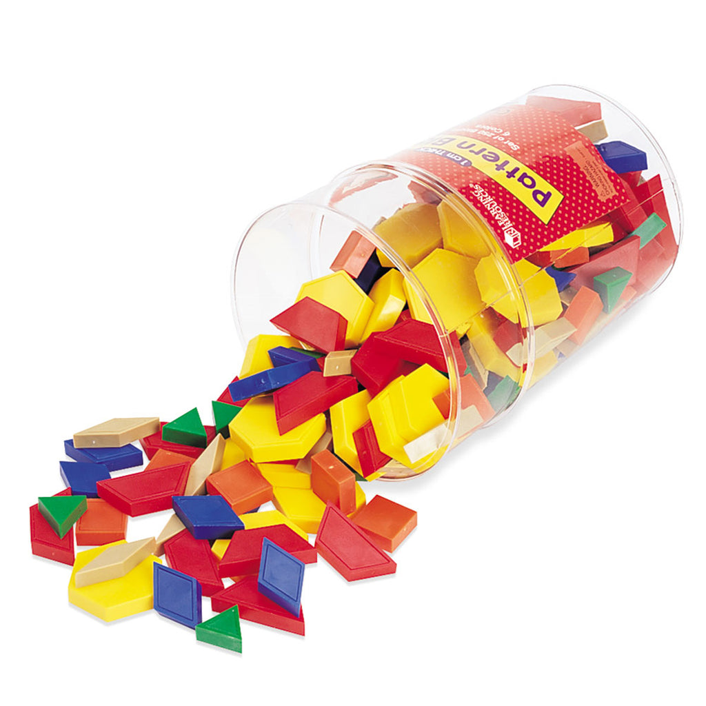 Learning Resources 1cm Plastic Pattern Blocks, Set of 250