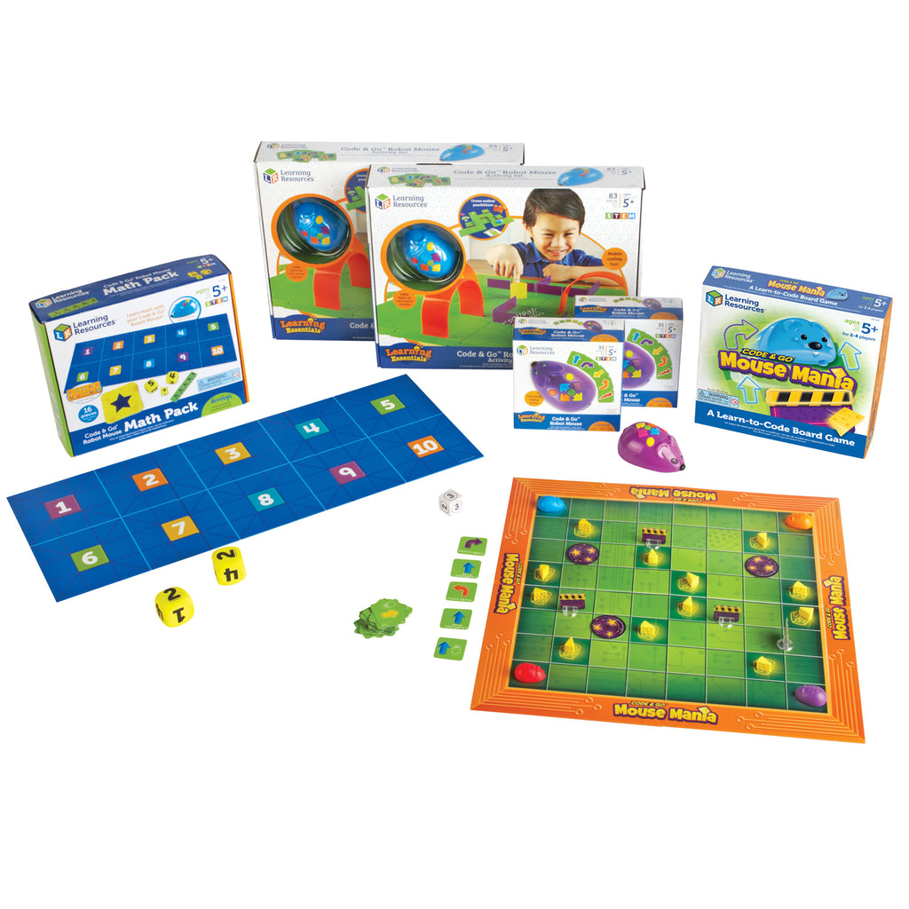 Learning Resources Code & Go™ Robot Mouse Classroom Set