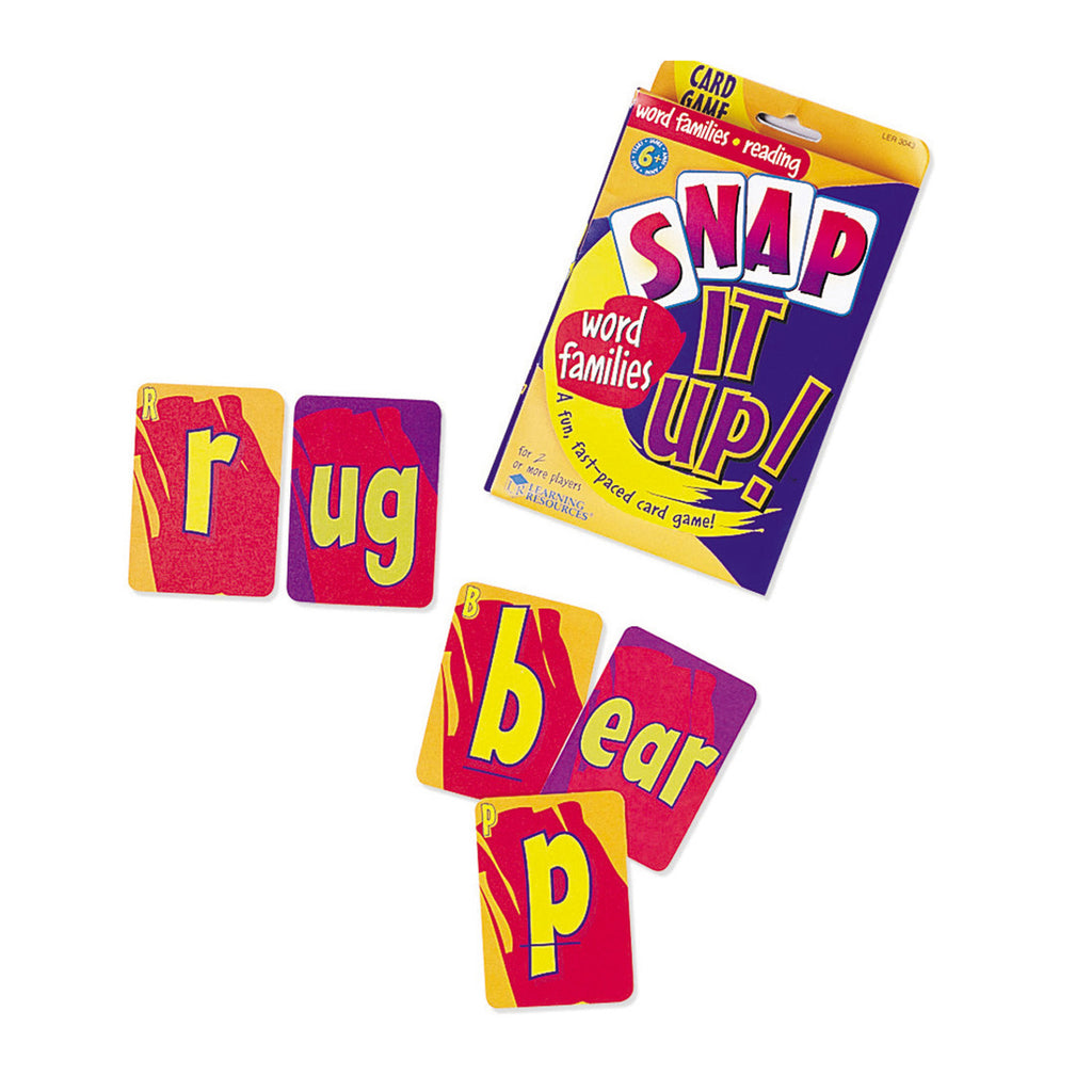 Learning Resources Snap It Up!® Phonics & Reading Card Game