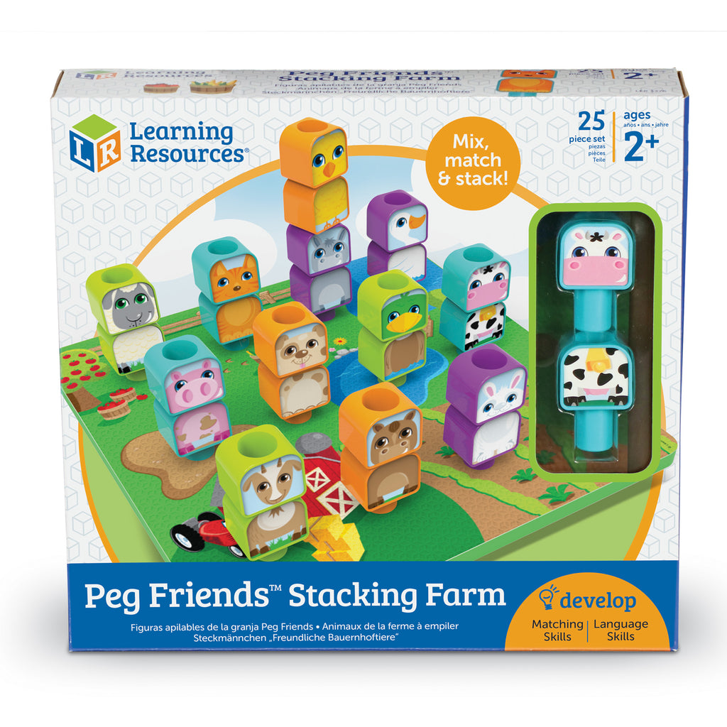 Learning Resources Peg Friends™ Stacking Farm