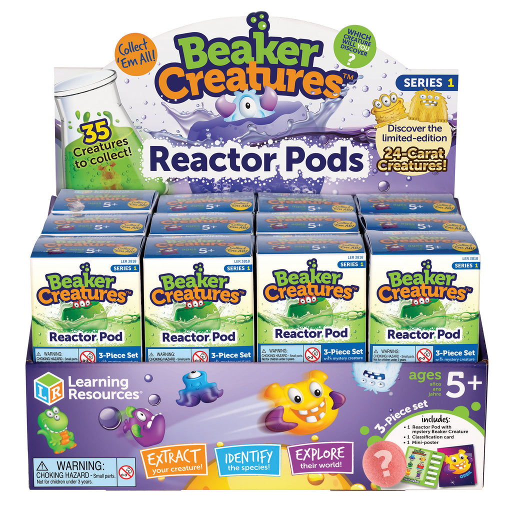 Learning Resources Beaker Creatures™ Reactor Pod, Set of 24