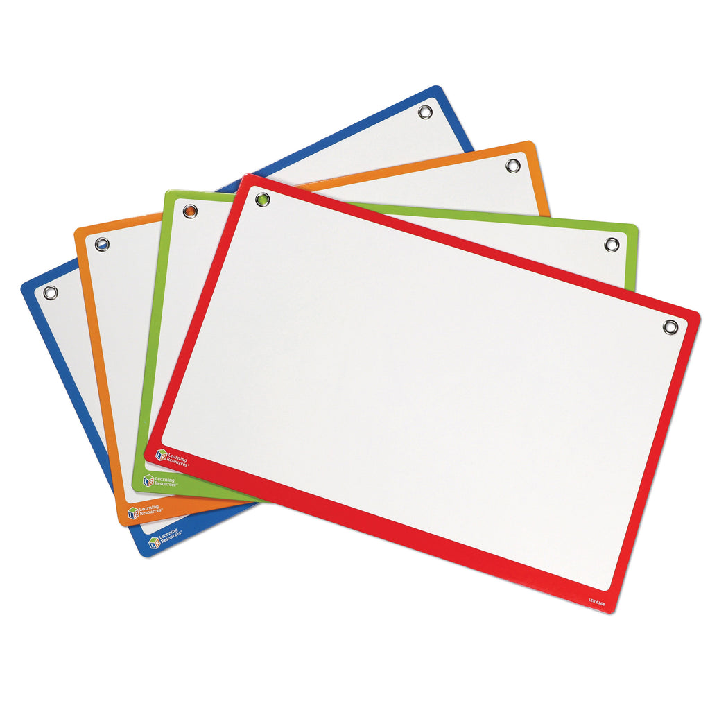 Learning Resources Magnetic Collaboration Boards, Set of 4