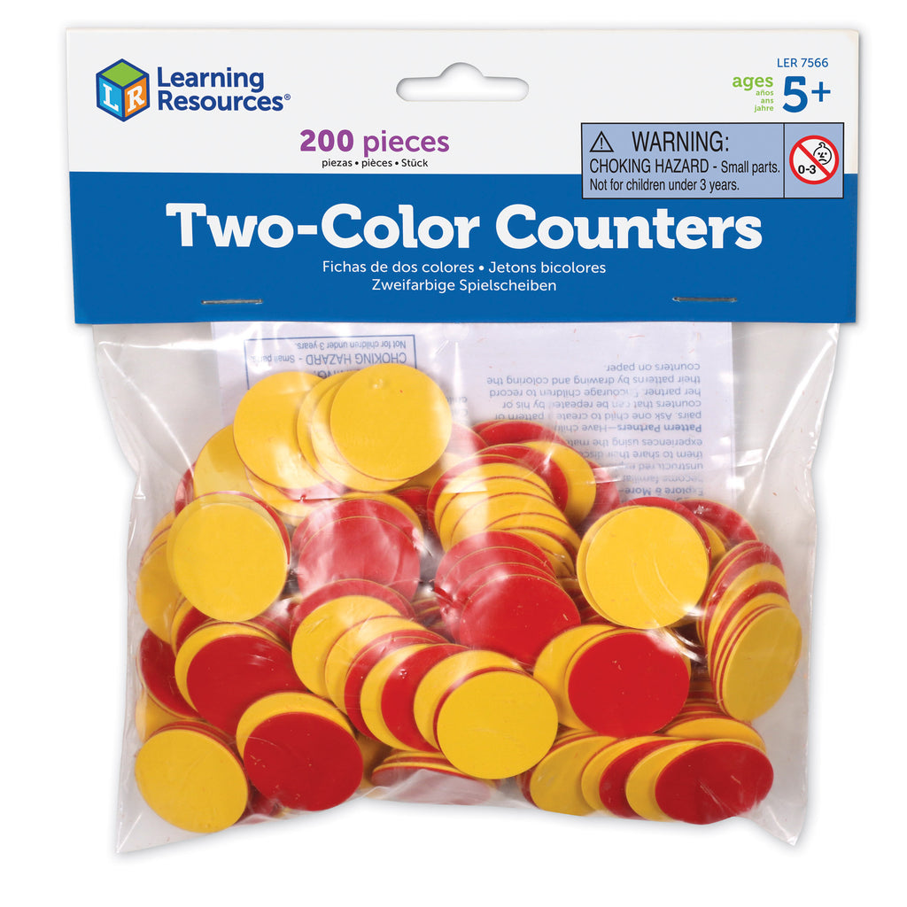 Learning Resources Two-Color Counters, Yellow & Red