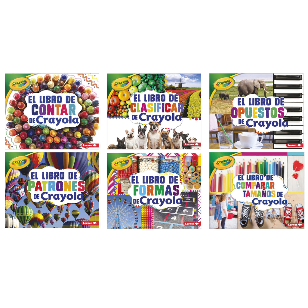 Lerner Publications Crayola® Concepts Books (Spanish), Set of 6