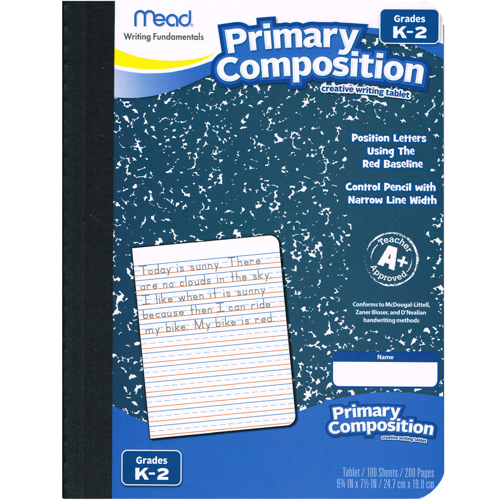 Mead Primary Composition Book Full Page Ruled 100 Sheets