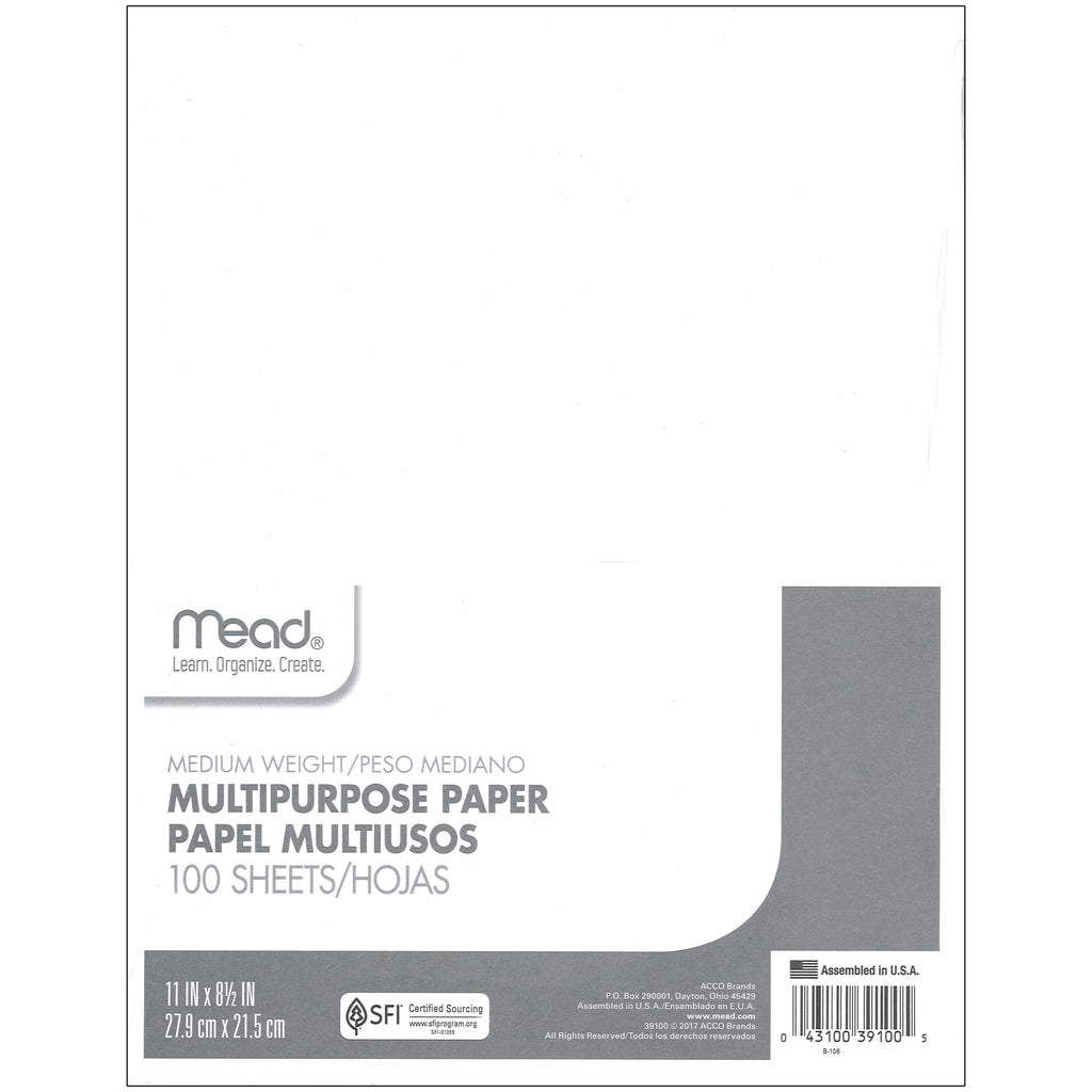 Mead Paper Typing 8 1/2 x 11 100 Count