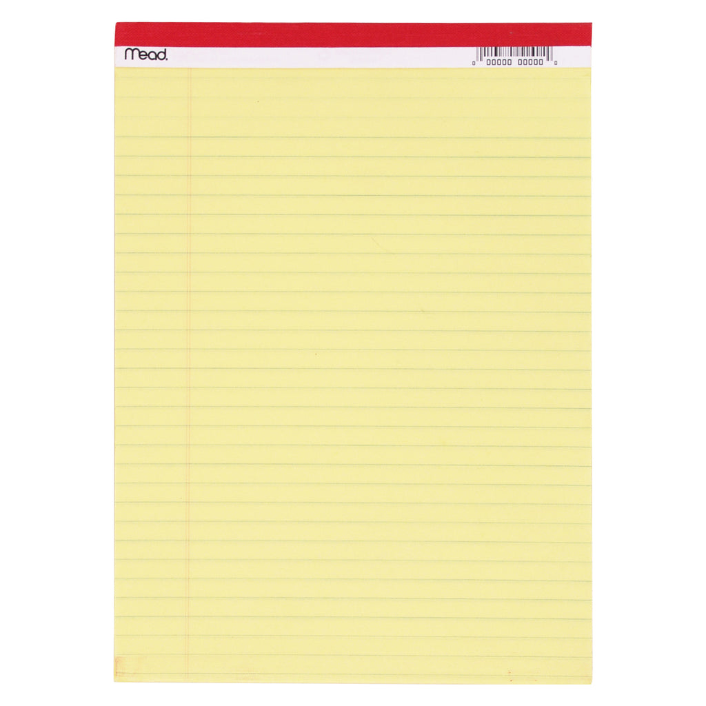 Mead Legal Pad 8.5 x 11.75 50 Count Canary
