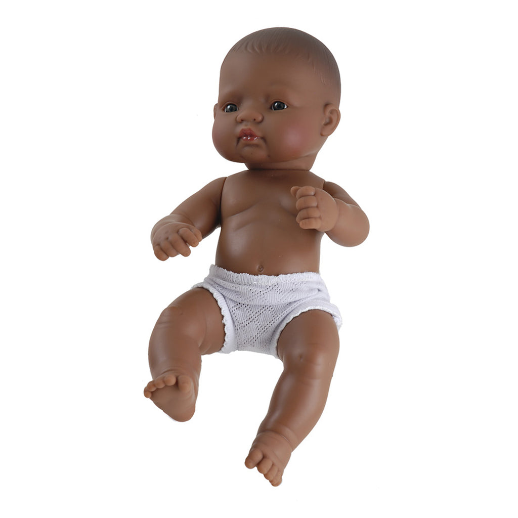 "Miniland Educational Newborn Baby Doll: Hispanic Girl, 12 5/8"" Long"