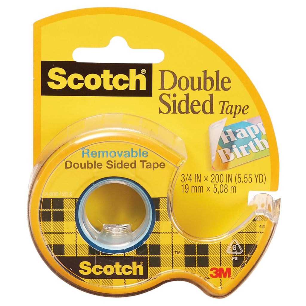 3M Scotch Double Sided Tape 3/4 x 200 Inches