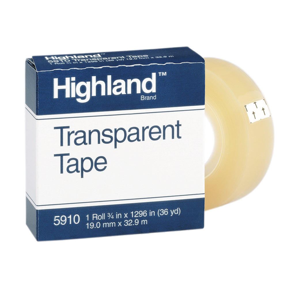 3M Tape Highland Transparent 3/4 x 1296