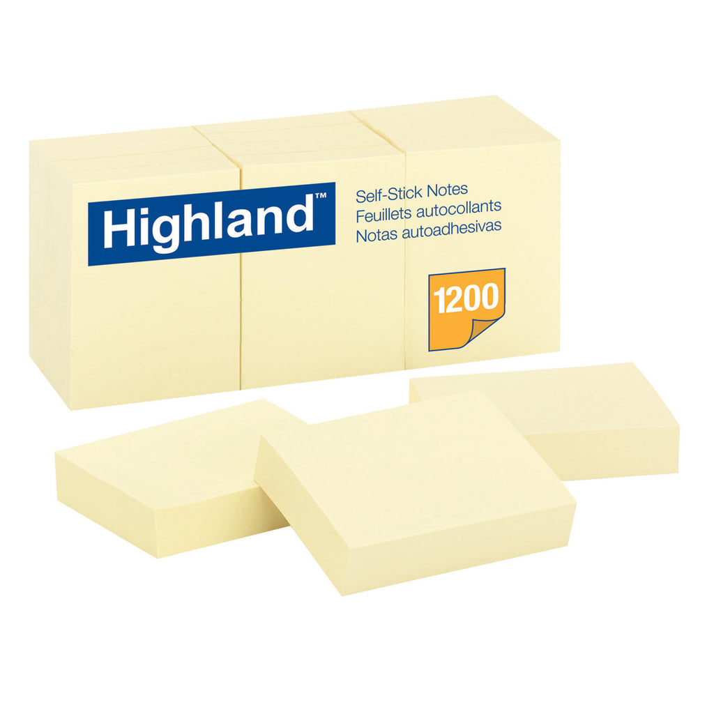 3M Notes Highland Yellow 1 1/2 x 2