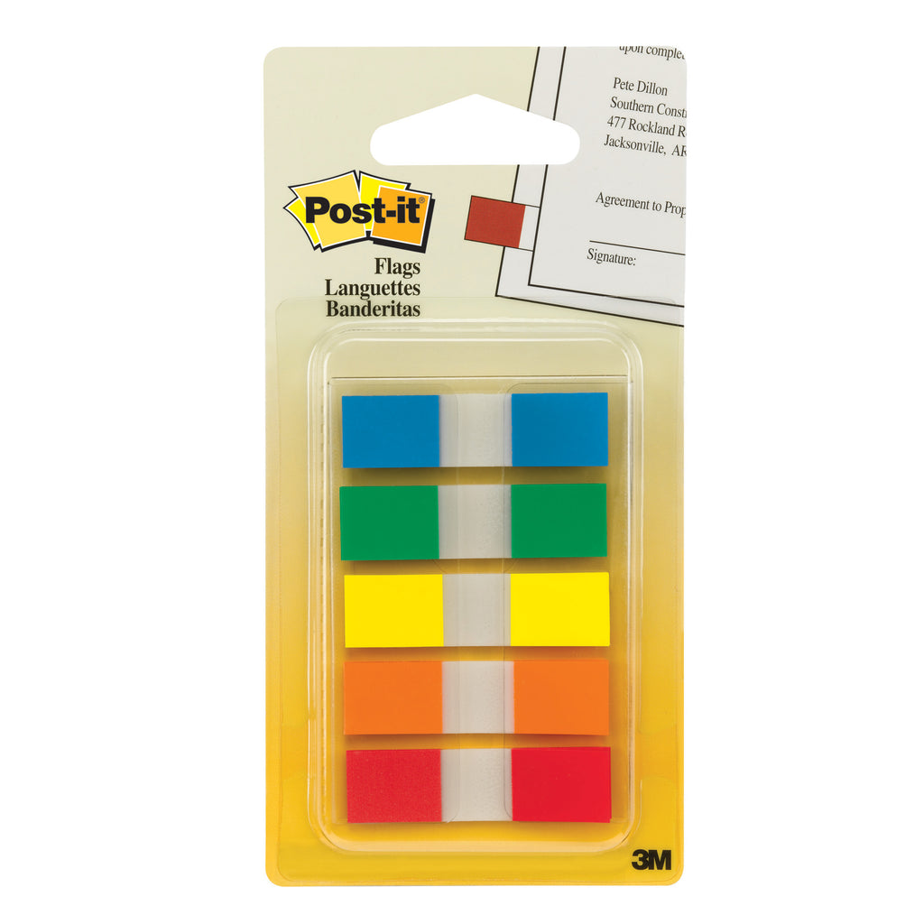 3M Post-it® Portable Flags, 5 Primary Colors