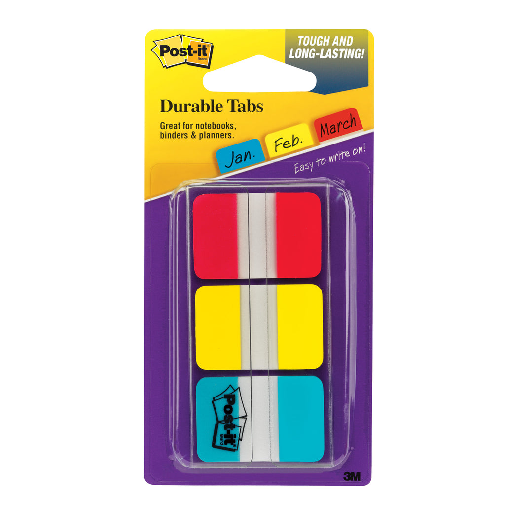 3M Durable Index Tabs 1 x 1.5 3/Pk