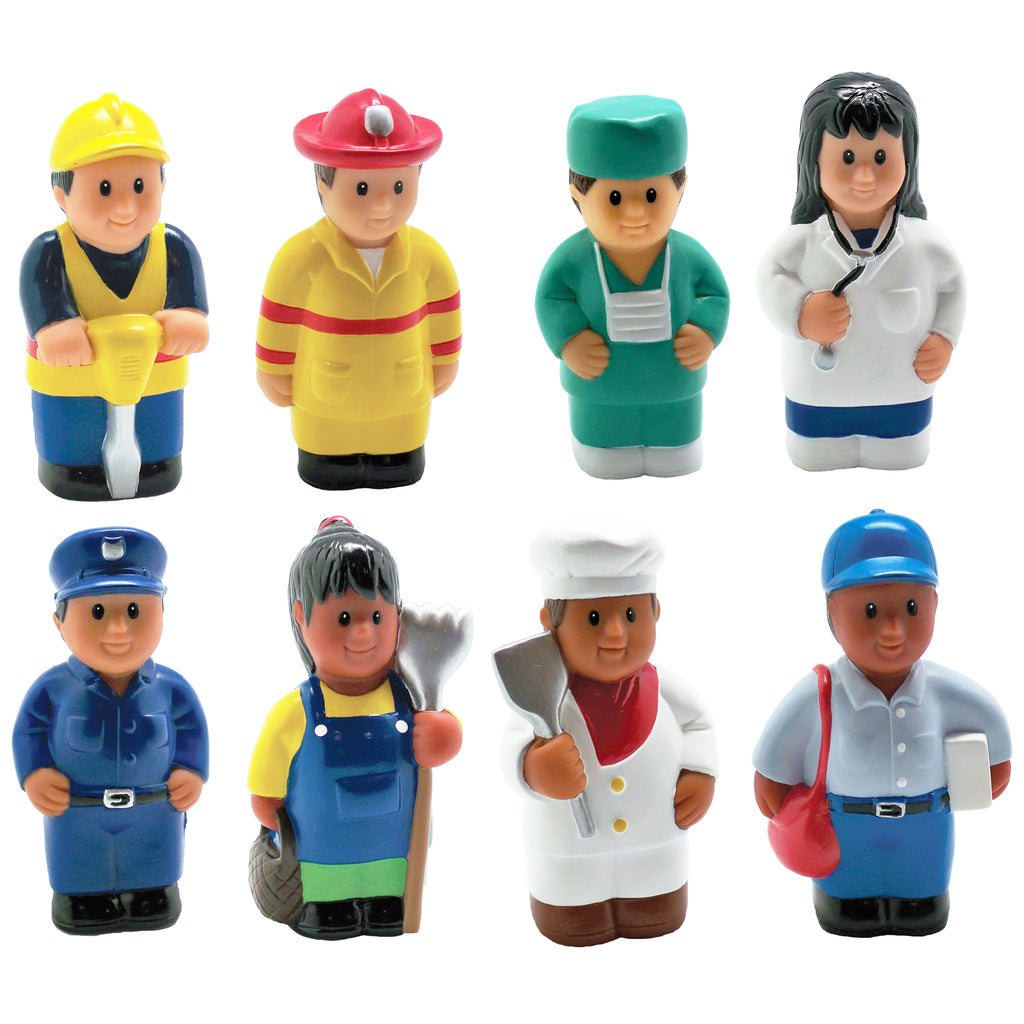 Get Ready Kids Multicultural Community Helper Figures, Set of 8