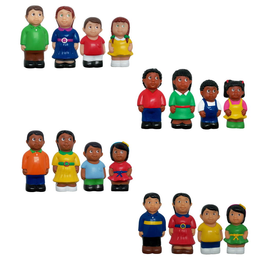 Get Ready Kids: Set of 16 Ethnic Family Figures