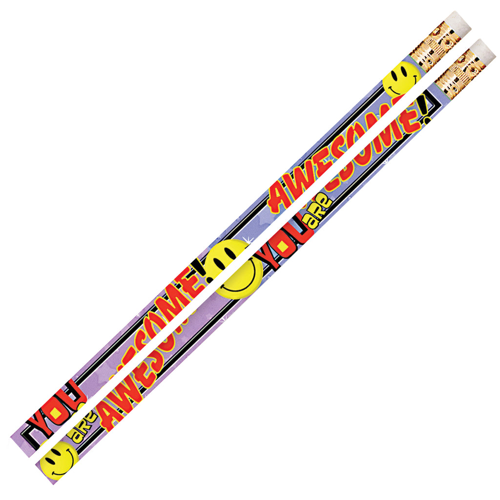Musgrave Pencil Company You Are Awesome 12Pk Motivational Fun Pencils