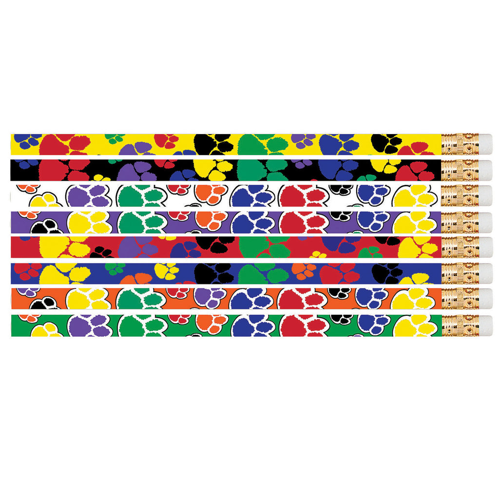Musgrave Pencil Company Paw Power 12Pk Motivational Fun Pencils