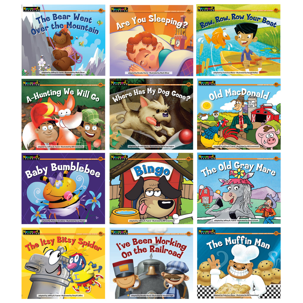 Newmark Learning Rising Readers Leveled Books Nursery Rhyme Songs & Stories 12