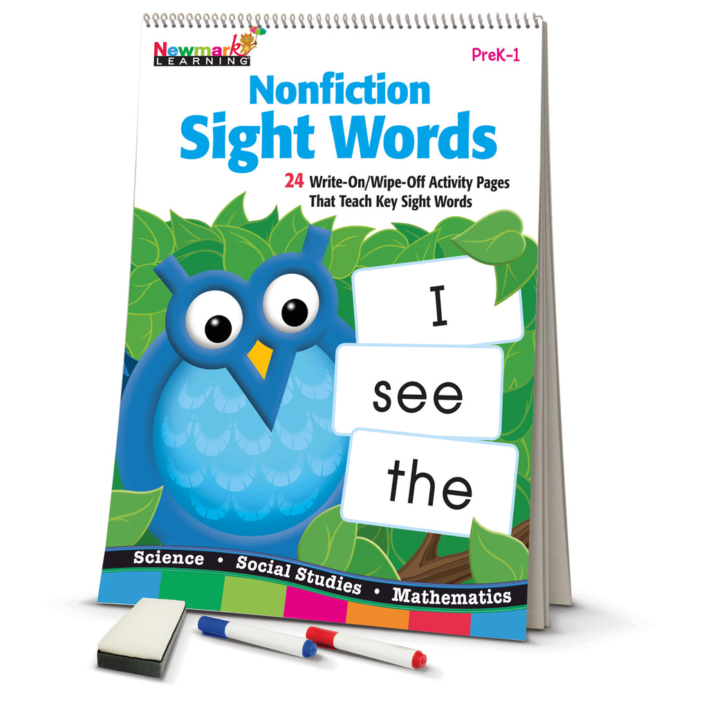 Newmark Learning Nonfiction Sight Words Learning Flip Chart