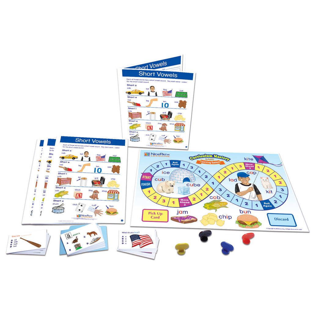 New Path Learning Short Vowels Learning Center, Grades 1-2