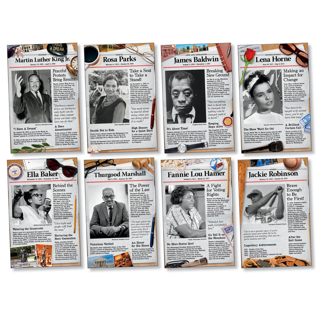 North Star Teacher Resources Civil Rights Pioneers Bulletin Board Set