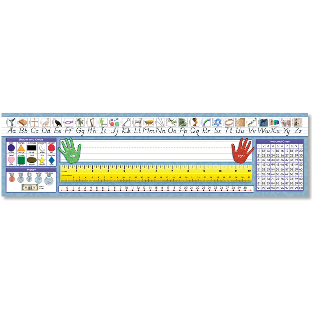 North Star Teacher Resources Primary - Traditional Manuscript Desk Plates