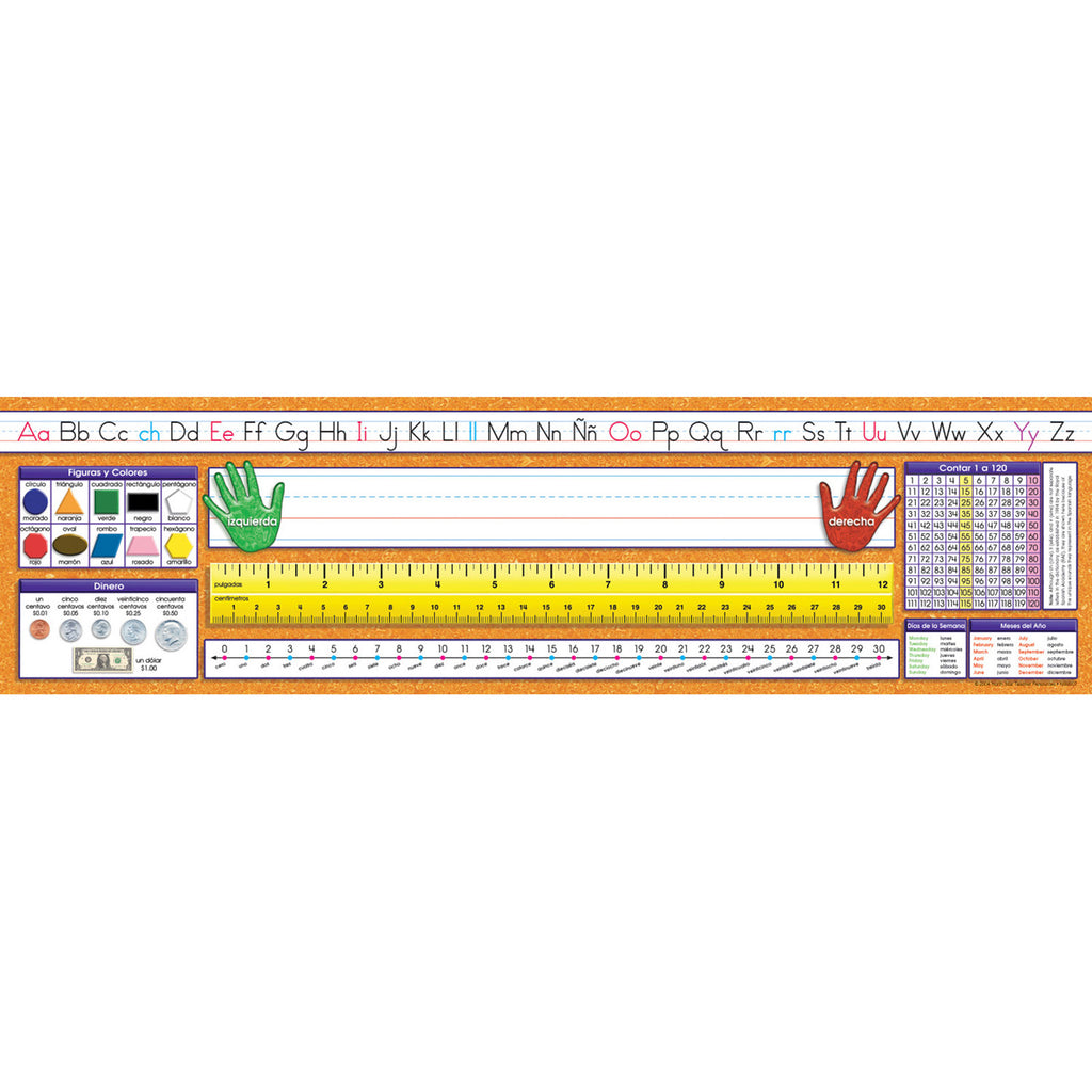North Star Teacher Resources Spanish - Traditional Manuscript Desk Plates