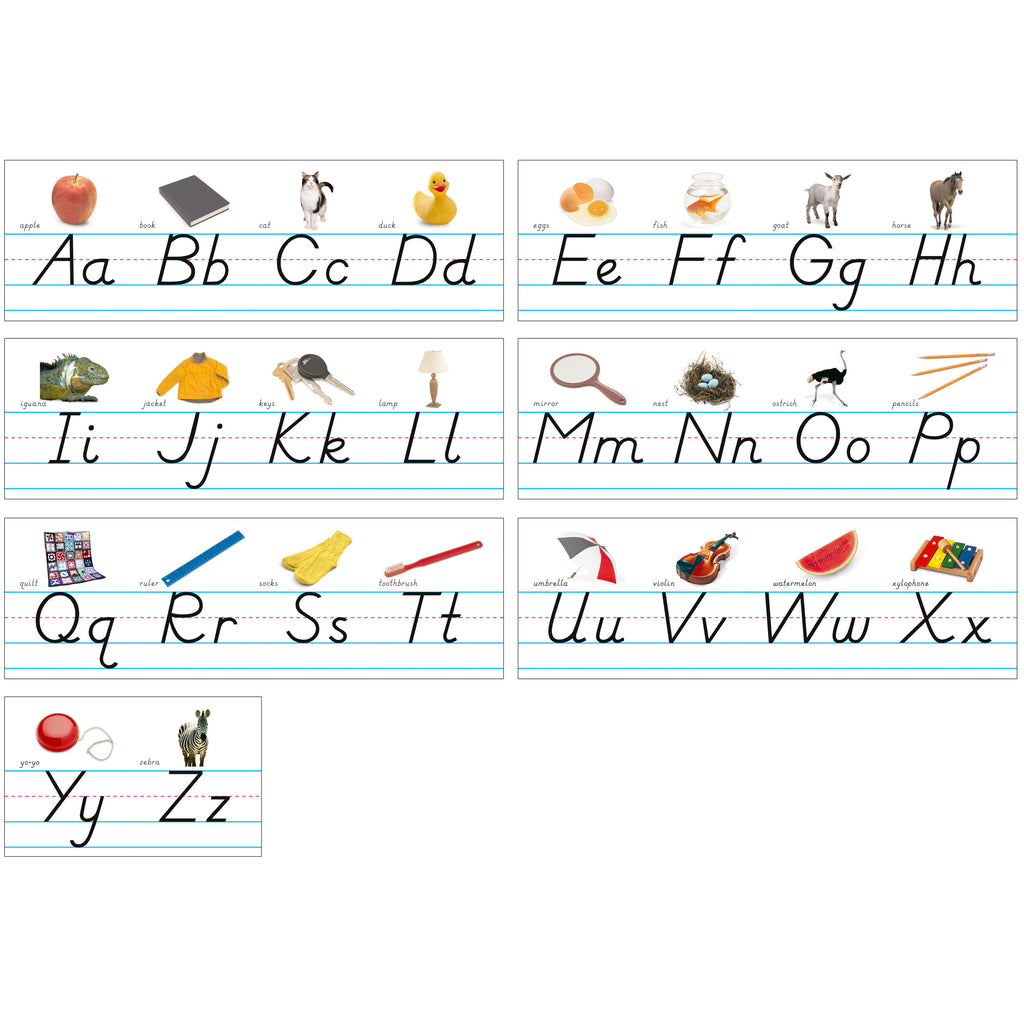 North Star Teacher Resources Alphabet Lines - Modern Manuscript with Pictures