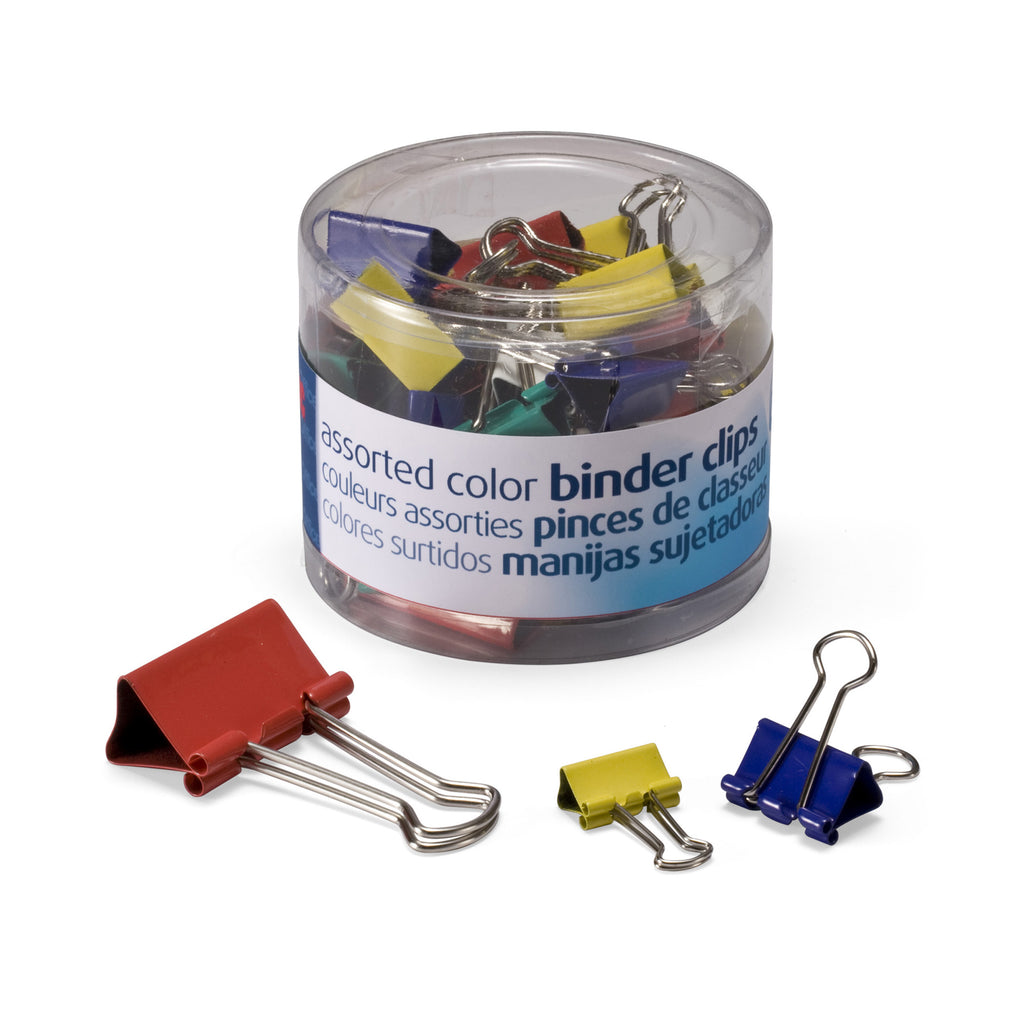 Officemate International Corporation Binder Clips, Assorted Colors & Sizes