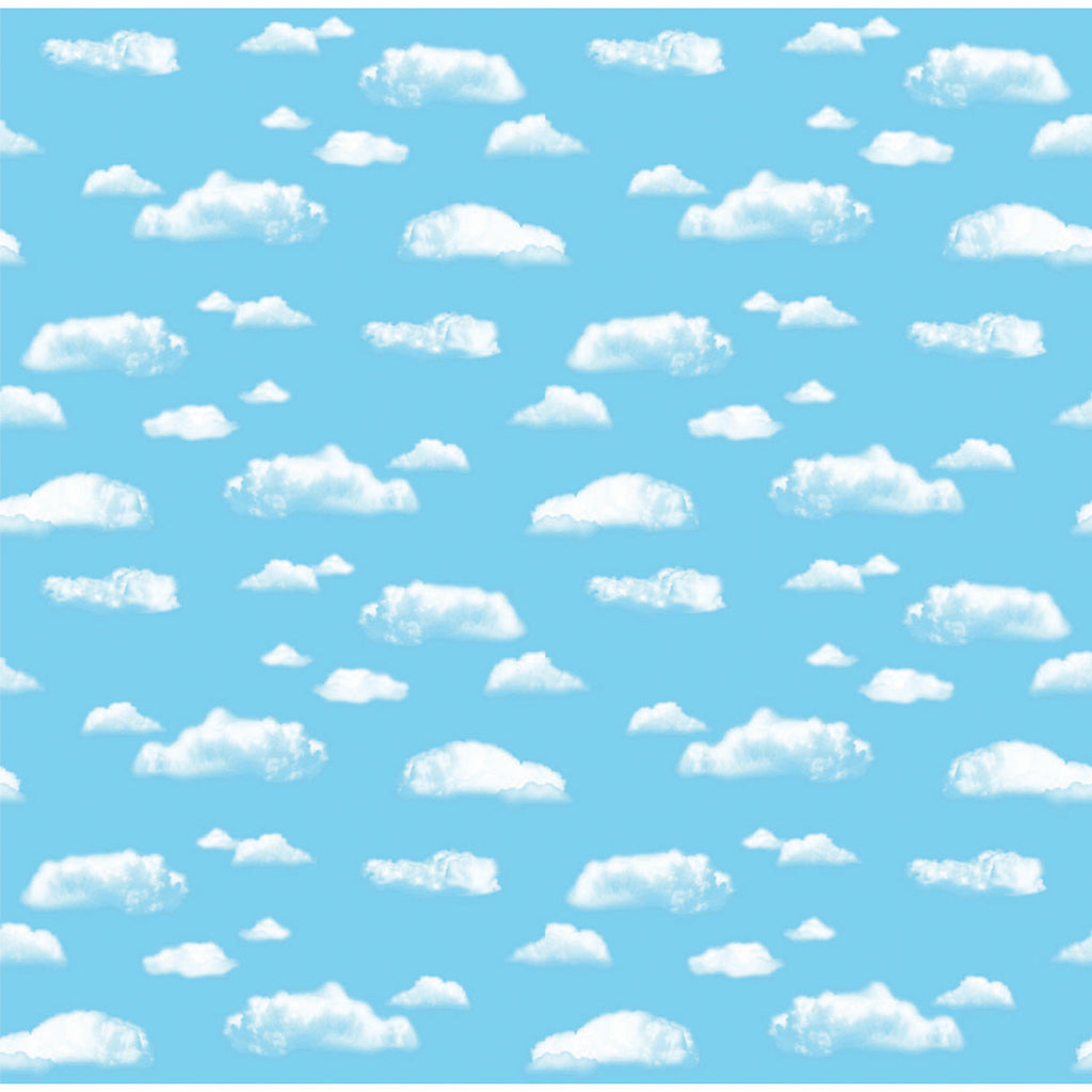 "Pacon Corobuff® Corrugated Clouds Background Paper Roll, 48"" x 12 ½'"