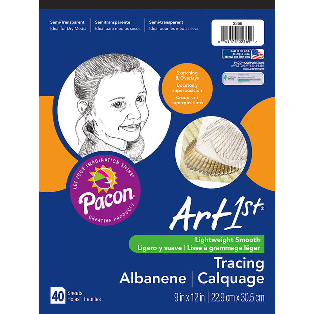 "Pacon Art1st® Tracing Pads, 9"" x 12"", 40 Sheets"