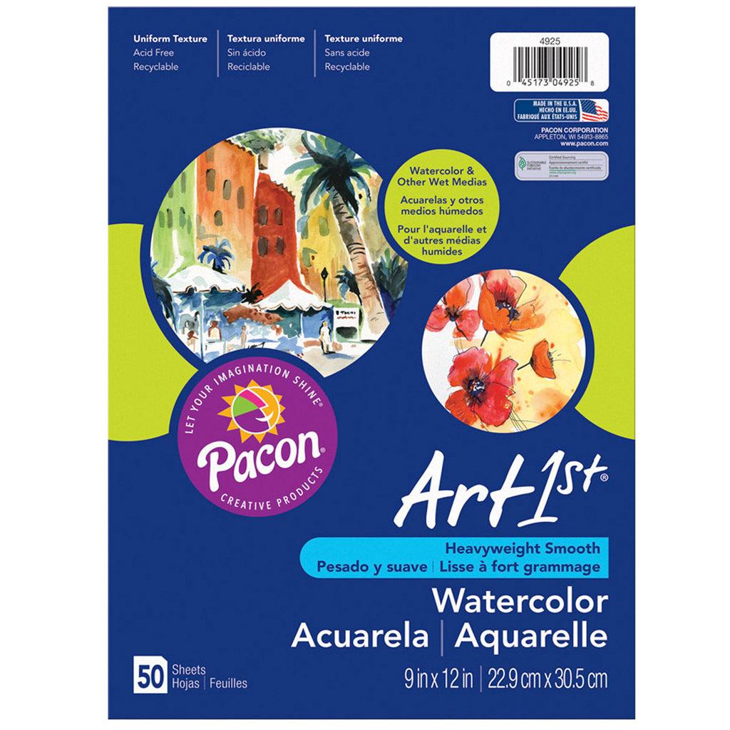 "Pacon Art1st® Watercolor Paper in Packages, 12"" x 18"""