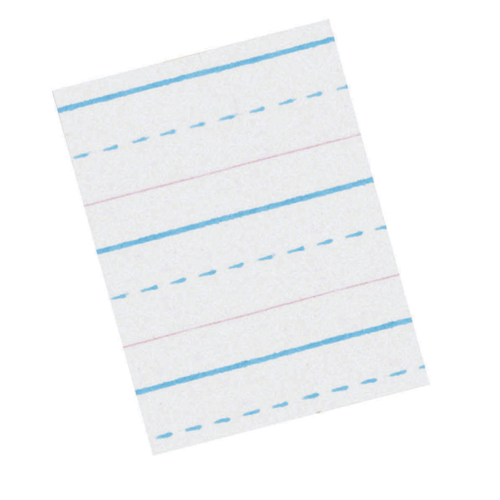 "Pacon Zaner-Bloser™ Broken Midline Sulphite Paper, 1/2"" Ruled Long Way, Grade 2"