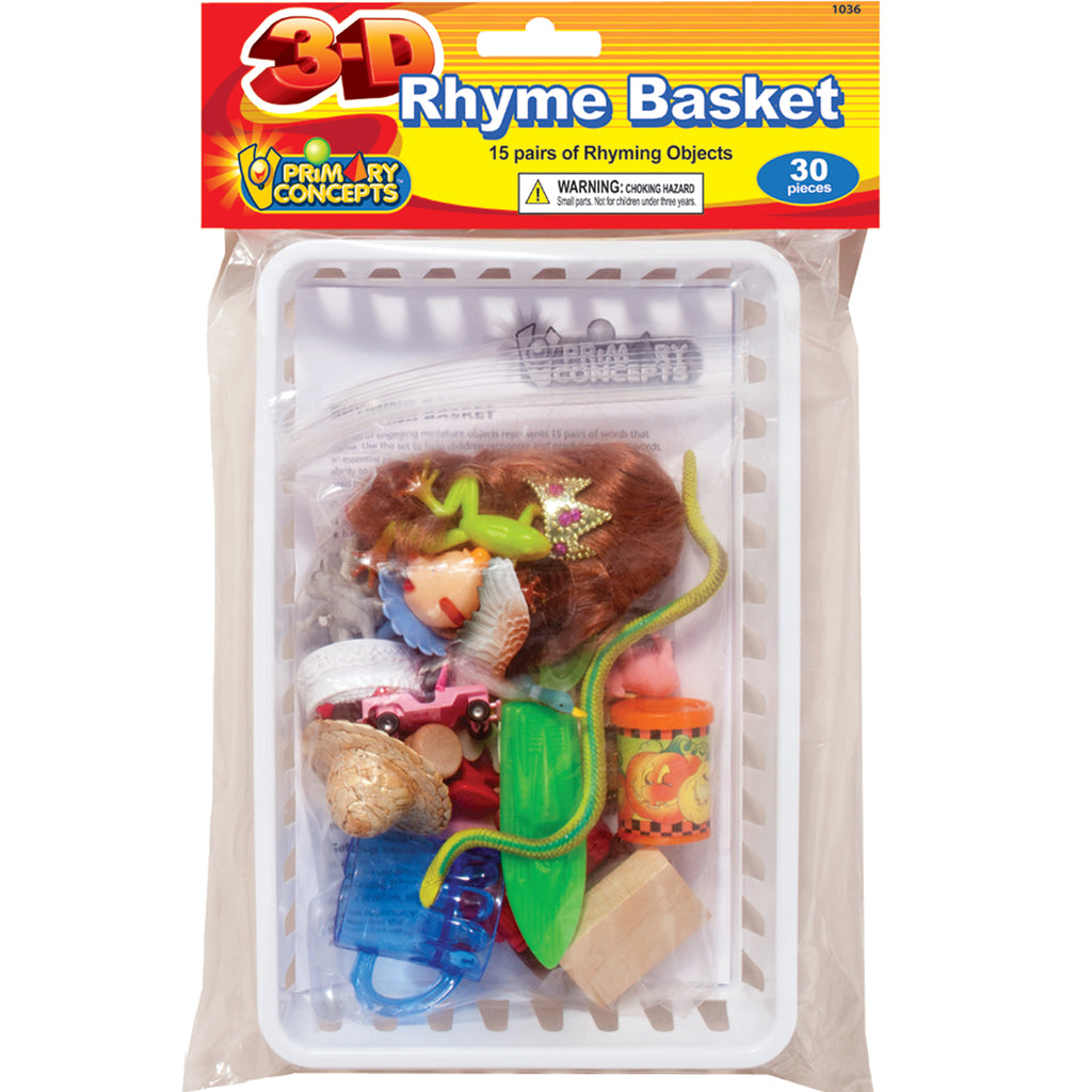 Primary Concepts 3-D Rhyme Basket (English)