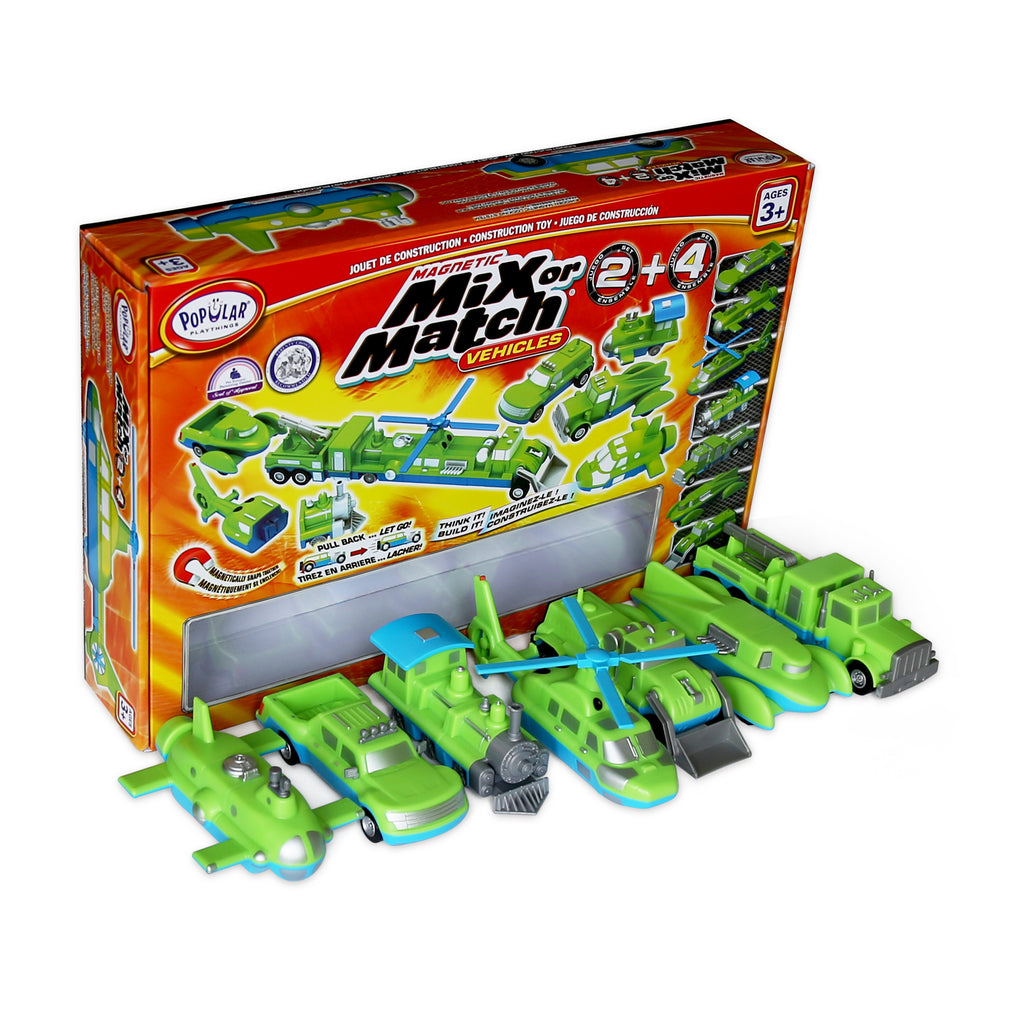 Popular Playthings Magnetic Mix or Match, Vehicles 2 & 4