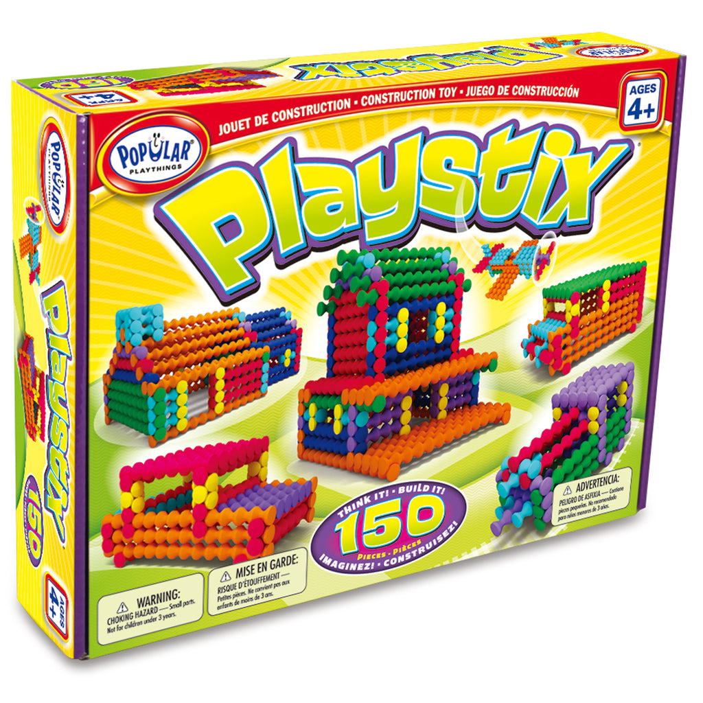 Popular Playthings Playstix, 150 Pieces