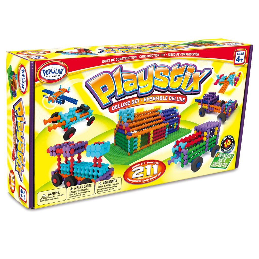 Popular Playthings Playstix Deluxe Set, 211 Pieces