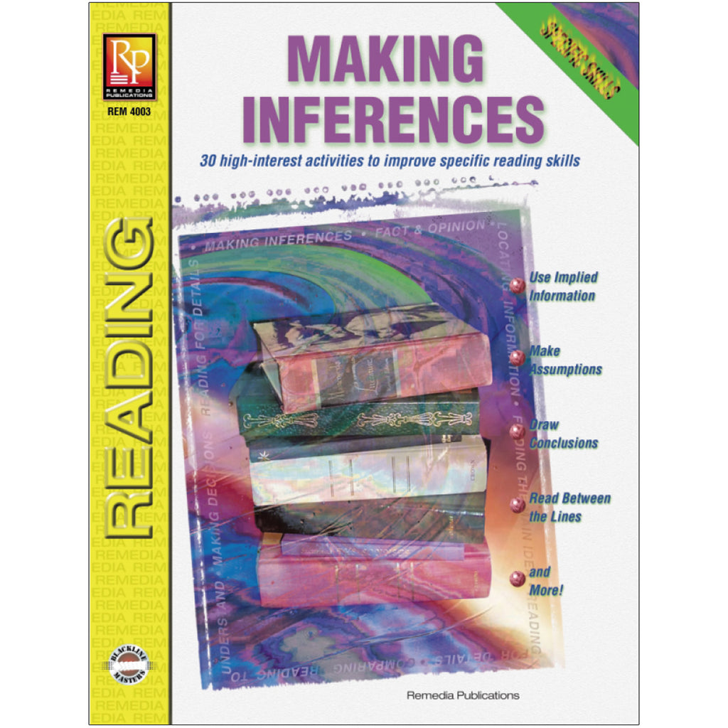 Remedia Publications Making Inferences Reading Comprehension Activity Book