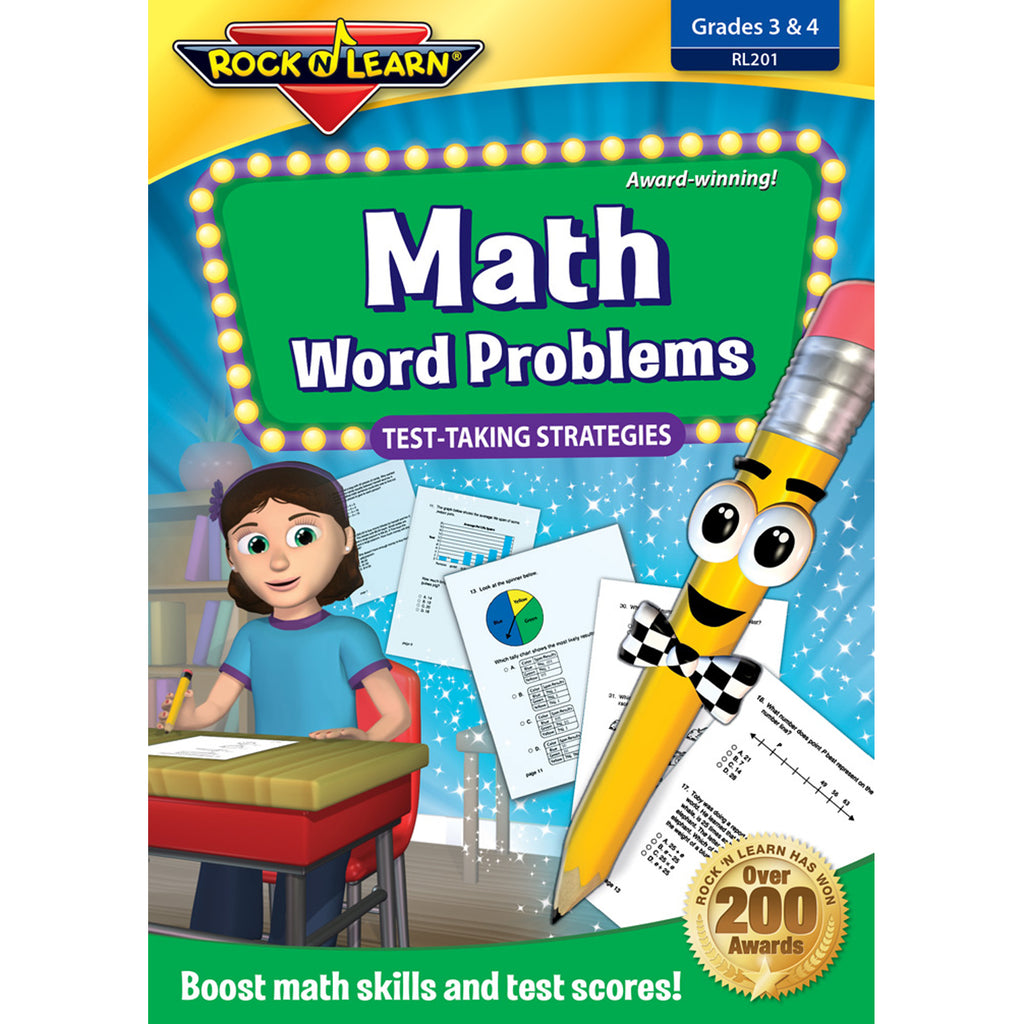 Rock 'N Learn Math Word Problems Test Taking Strategies DVD Gr 3-4