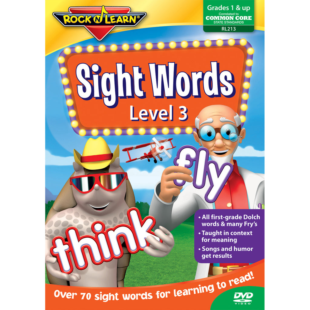Rock 'N Learn Sight Words Level 3 DVD