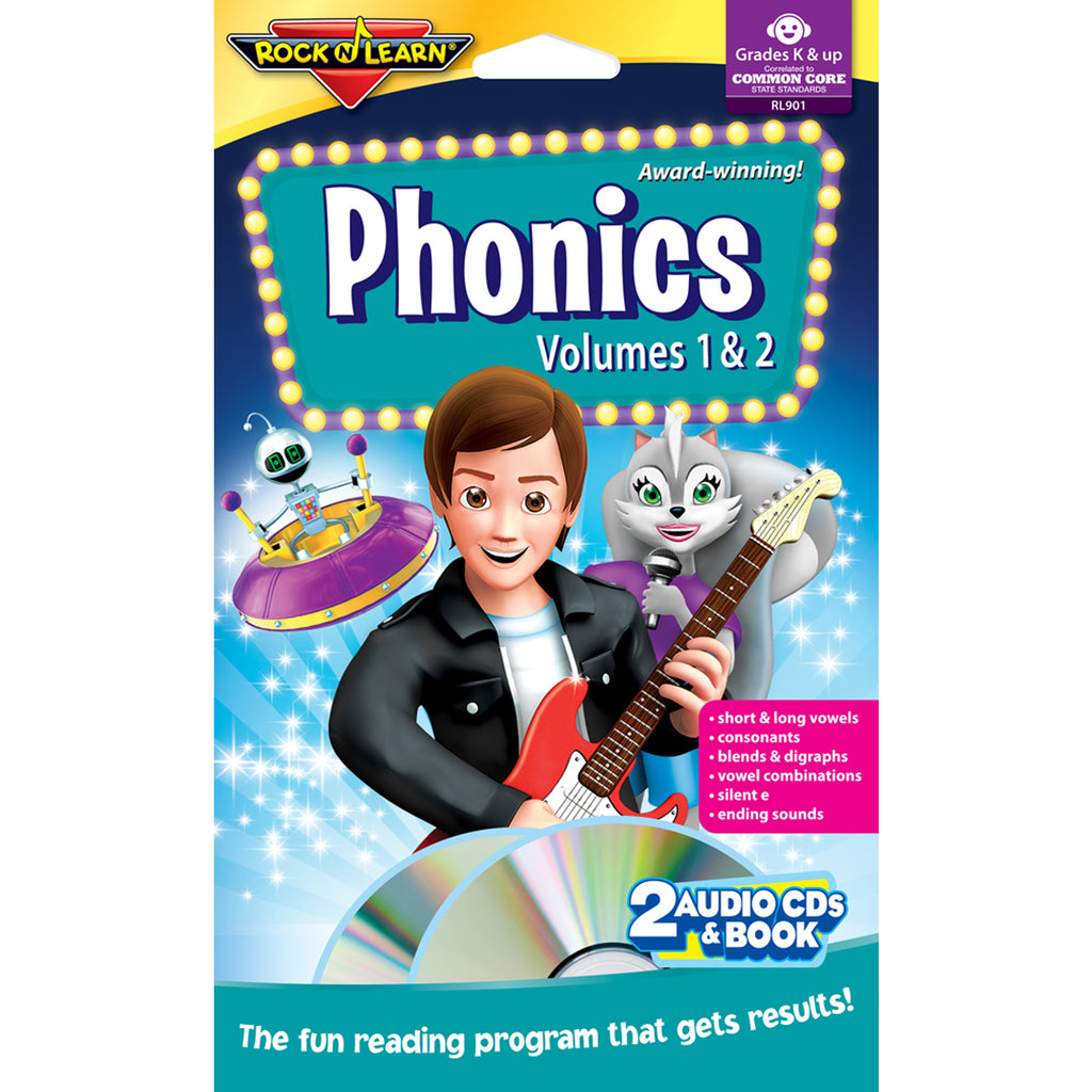 Rock 'N Learn Phonics Double CD & Book Program Audio/CD