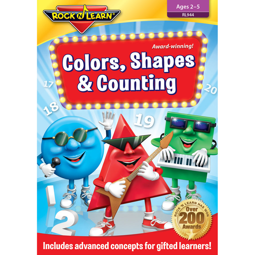 Rock 'N Learn Colors Shapes & Counting DVD