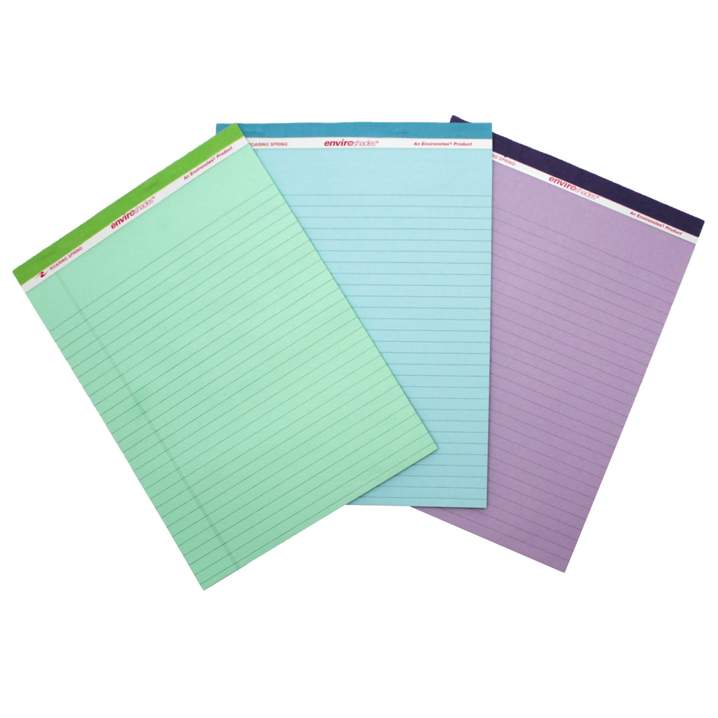Roaring Spring Paper Products EnviroShades Standard Legal Pad, 3 Pack Assorted
