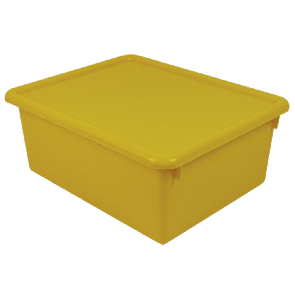 Romanoff Stowaway Yellow Letter Box With Lid 13 x 10-1/2 x 5