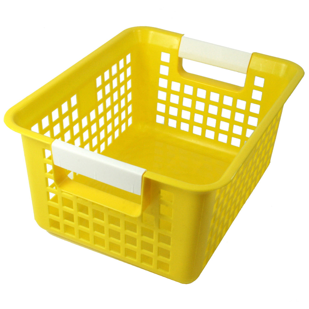 Romanoff Book Basket, Yellow