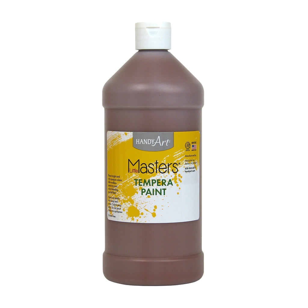 Handy Art® Little Masters Brown 32 Oz Tempera Paint